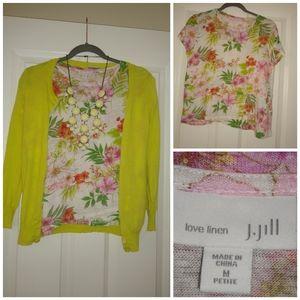 J Jill petite m linen shirt
